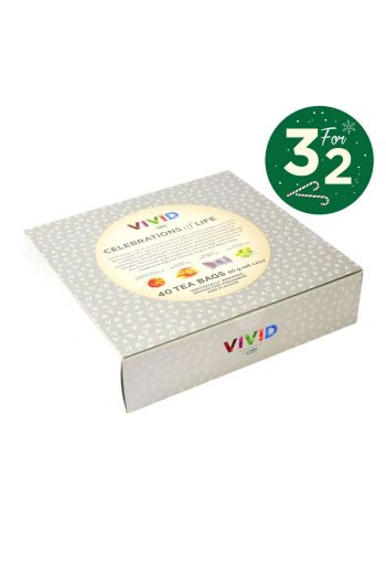 Dilmah Vivid celebration of life gift pack - 40 tea sachets