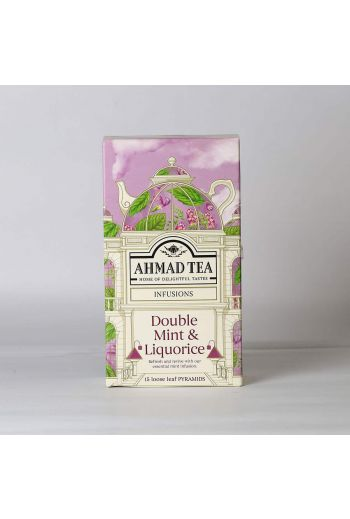 Ahmad Double Mint and Liquorice 15 Pyramid Tea Bags