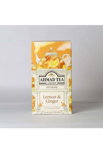 Ahmad Lemon and Ginger 15 Pyramid Tea Bags