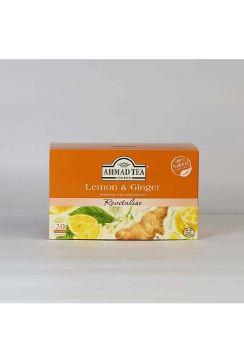 Ahmad Lemon and Ginger 20 Foil Tea Bags