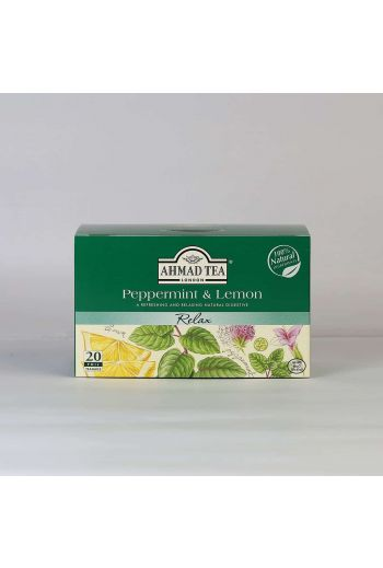 Ahmad Peppermint and Lemongrass 20 Foil Tea Bags