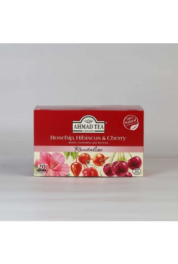 Ahmad Rosehip, Hibiscus and Cherry 20 Foil Tea Bags
