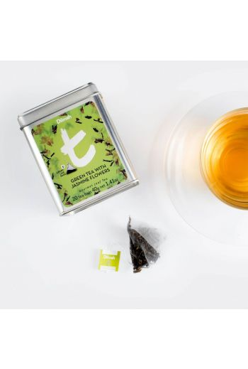 Dilmah Green Tea with Jasmine Flowers 20 t-Bags