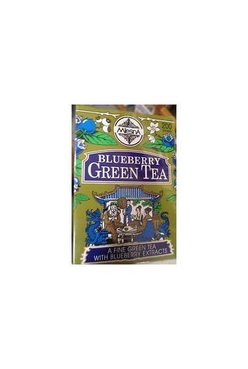Mlesna Blueberry Green Tea Bags 50 Pack