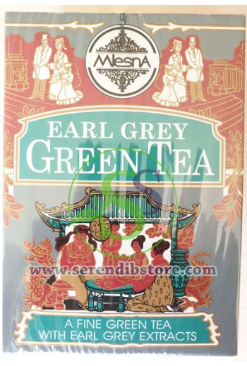 Mlesna Earl Grey Green Tea Bags 50 Pack
