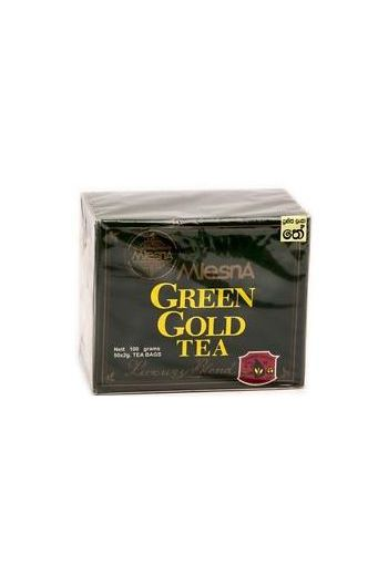 Mlesna Green Gold Tea Bags 50 Pack