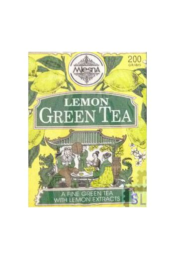 Mlesna Lemon Green Tea Bags 50 Pack
