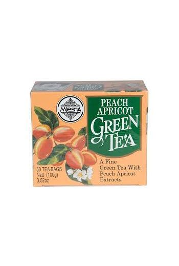 Mlesna Peach Apricot Green Tea Bags 50 Pack
