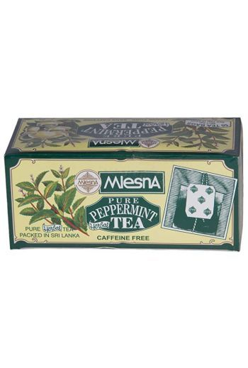 Mlesna Pure Peppermint Herbal Tea Bags 30 Pack (Foil)