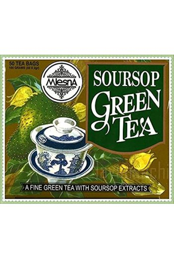 Mlesna Soursop Green Tea Bags 50 Pack