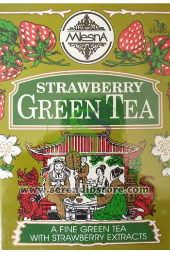 Mlesna Strawberry Green Tea Bags 50 Pack