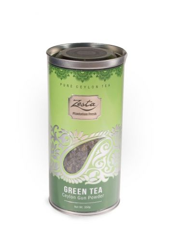 Zesta Green Leaf Tea Tin Caddy 100g