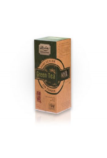 Zesta Gun Powder Green Leaf Tea Tin Caddy 150g